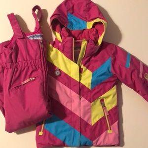 Ski set for girls - coat and bibs